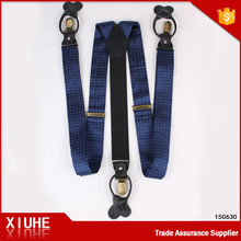 High quality polyester dot pattern suspensorio with custom logo for mens suspender belt