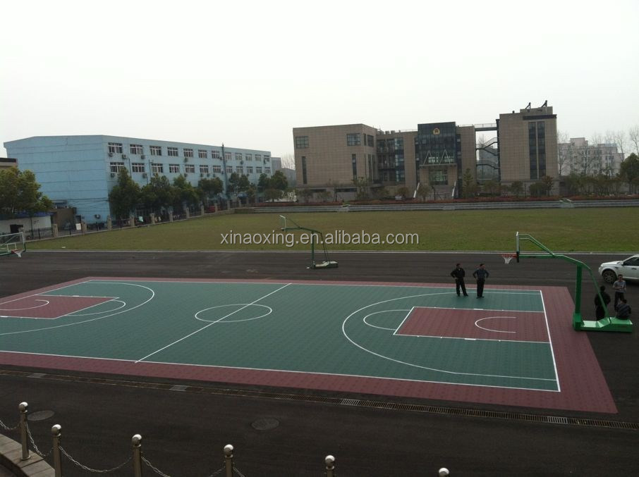 High Quality Interlocking Basketball Flooring, Outdoor Basketball Court Flooring, Modular Basketball Flooring