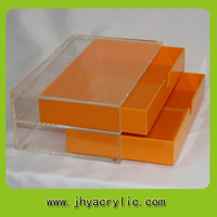 Clear tabletop acrylic plastic storage drawer multi-drawer box
