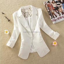 Women Lace Blazer Elegant Suit Deep V-neck short Jacket ladies suit design