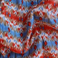 cotton silk blend muslin ikat print cotton silk fabric