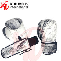 Synthetic leather boxing gloves, printed boxing gloves, dual strap pro training gloves in artificial leathe