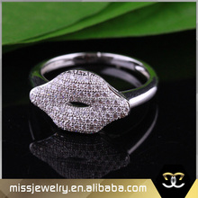 Missjewelry beauty kiss mouth shape rings wholesale crystal rings 925 sterling silver always sisters cute rings for girls