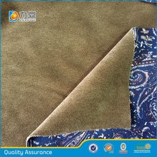 newest 100%polyester printed and bonding super soft fabric for jacket,suit and shirt