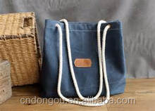 Customized Reusable Blank Cotton Shopping Bags Canvas Tote Bag Wholesale Women Single Bag