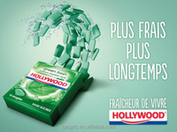 Hollywood chewing gum, box packaged energy chewing gum