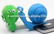 Promotional Snail Shape 3.5mm Jack Mobile Mini Speaker