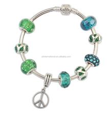 Bracelet, Fashion Glass Beads Murano Bracelet, Magnetic Charm Crystal P Bracelet Jewelry Yiwu