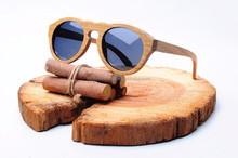 Top quality green sandal wood sunglasses, custom brand design