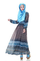 C246 fashion islamic one piece dress muslim morden chiffon kaftan