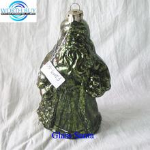Vintage green glass Christmas Santa claus ornament most popular Christmas item 2014