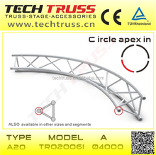 high quality ,durable ,popular ,useful triangle apex in circular truss, lighting truss