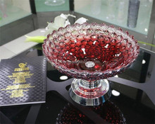 Dia.33cm simple fashion and colorful crystal fruit bowl for wedding