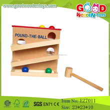 OEM Wholesale Wooden Pound Toys Ball Rolling Tower Pound Ball