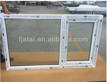 PVC large fixed glass frame picture side swing and hinged windows