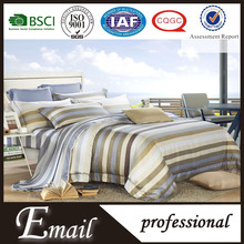 American/European style stripe elegant tencel luxury high level silk bedding set