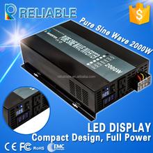 2015 Hot Sale Full Power 2000W Peak Power 4000W DC to AC Pure Sine Wave Power Solar Inverter