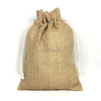 Promotional Wholesale Burlap Drawstring Jute Bags