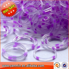 Hot Funny Colorful muti-color Rainbow Rubber Loom Bands for children