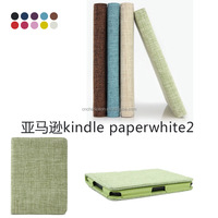 Flip Cover Canvas PU Leather Smart Case Cover for Amazon Kindle Paperwhite CO-LTC-321