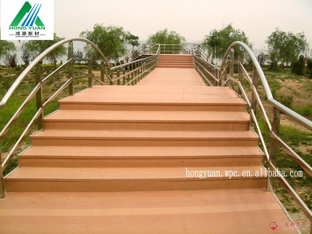 Environmental wood plastic composite outdoor prefab decks for Plastic composite decking