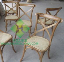 Wooden X Chair Cross Chair,Rental Wedding Cross Back Chair,Cheap Bentwood Chair