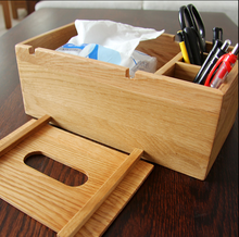 Creative home antique wooden tissue box / napkin box / refillable tissue box
