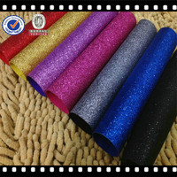 pu leather lot sell /shops decorated with wallpaper/glitter fabric pen