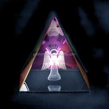 angel carving crystal pyramid for beautiful keepsake MH-JZ045