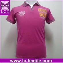 supply fashional design 100% pre-shrunk cotton gift polo shirt featuring decorative stripe ribs(LCTT0230)