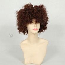 fashion design crazy color short curly wig for black women