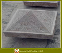 decorative stone pillar capital