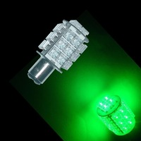 Bay15d 28 Super Flux Piranha LED For Car Auto Tail Brake Stop Lights Lamp Bulb GREEN