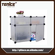 Tenice diy pp plastic clothes storage cabinet design