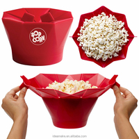 avon distributors china supplier foldable Microwave Silicone Popcorn Maker SGS,FDA,LFGB certified Popcorn Bowl