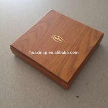 China Wholesale Tea Set Wooden Package Boxes with Logo on Top