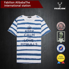 Men's clothing han edition 2015 summer wear new cultivate one's morality short sleeve T-shirt printing stripe of dry fit t shirt