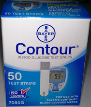 Bayer Contour Blood Glucose Test Strips