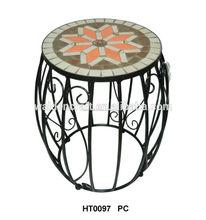 mejor venta de mosaico ronda de silla para el hogar y el café bar