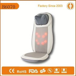 Rolling massage cushion with soothing heat