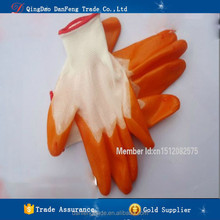 DANFENG PDB201 Wholesale Orange cheap fishing pvc gloves hand gloves Anti-oil protection gloves