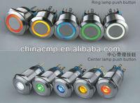 CMP waterproof metal switch ring illuminated push button