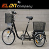 2015 beautiful black electric tricycle with li-ion battery(E-TDR04 black )