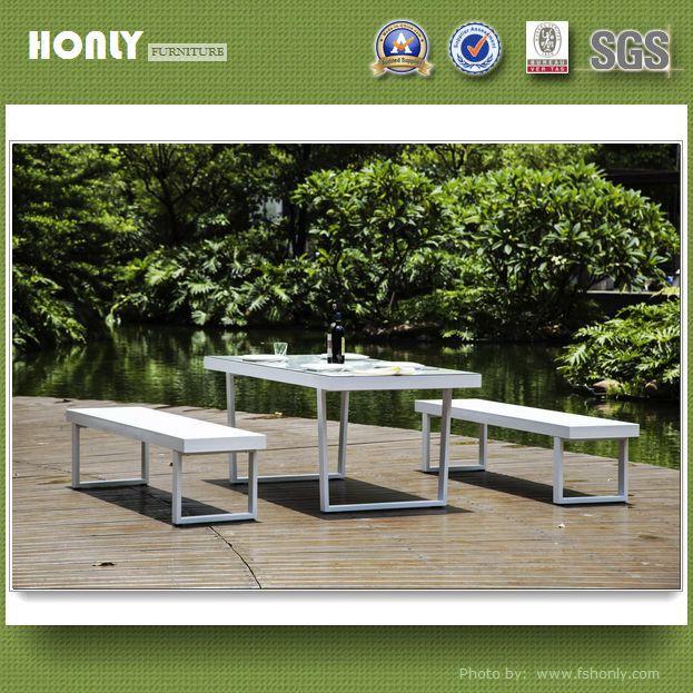 KD aluminum frame sling garden metal bench outdoor bench