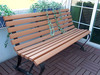 Custom Shape Printed Cute Design Fashional Wooden Garden Bench