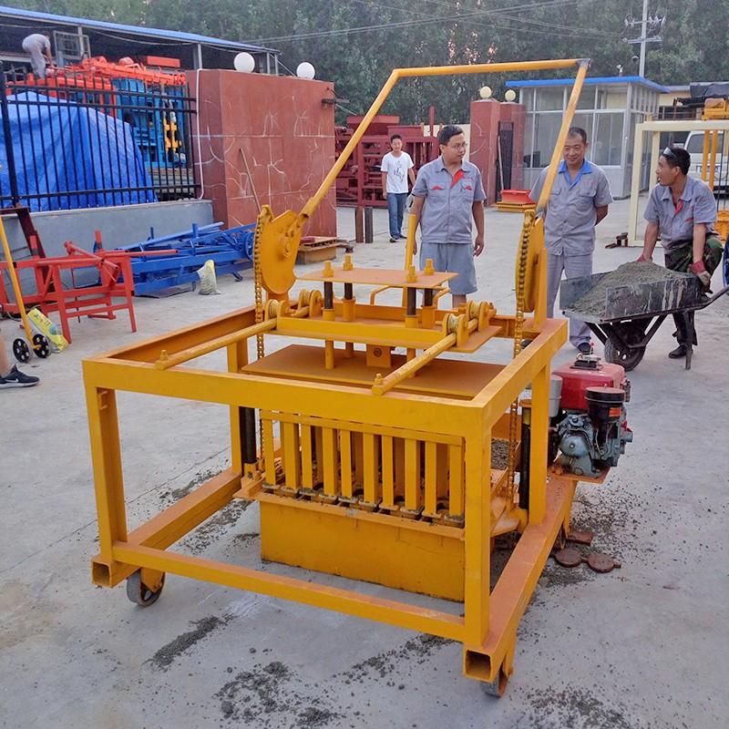 Hot Sale Qm 4-45 Diesel Cement Block Brick Making Machine