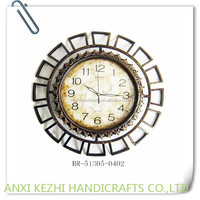 round antique metal clock wall