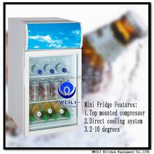 SC55L Counter Type above table top/desktop display cooler/freezer