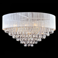 chandeier direct from China Tiffany white colour chandelier with crystal pendant for decoration