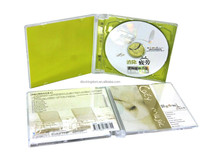 Full color CD replication printing packing clear jewel case insert tray